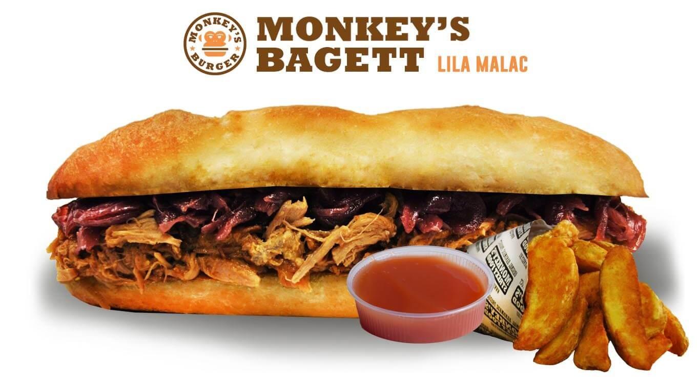 Pulled Pork Lila Bagett Menü