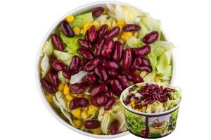 Vörösbabos saláta