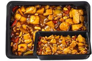 Mogyorós csirke körettel (Gong-bao)  (11.)
